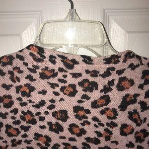 Relais Knitware Sweaters - Relais Brand Pink Cheetah Print Cardigan Small